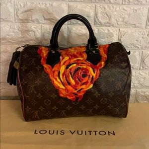 Authentic Louis Vuitton speedy 30 custom painted